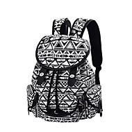 tanie Plecaki-Damskie Torby plecak Guziki Warstwowane na Casual Na wolnym powietrzu Na każdy sezon Brown Black Bronze Granatowy