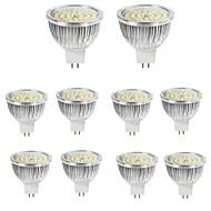 billiga Belysning-10pcs 6W 550lm MR16 LED-spotlights 48 LED-pärlor SMD 2835 Dekorativ Varmvit Kallvit 12V