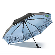 baratos Mais Populares-Tecido Mulheres / Todos Ensolarado e chuvoso / Prova-de-Vento / novo Guarda-Chuva Dobrável