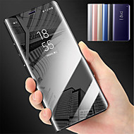 Etui Til Huawei P10 Lite P10 Plus Med stativ Spejl Fuldt etui Ensfarvet Hårdt PC for P10 Plus P10 Lite P10 P8 Lite (2017)