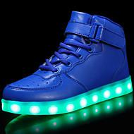 baratos Sapatos de Menino-Para Meninos Sapatos Couro Sintético Outono / Outono & inverno Conforto / Tênis com LED Tênis Cadarço / Colchete / LED para Infantil Vermelho / Azul / Rosa claro