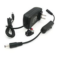 billige belysning Tilbehør-ZDM® 1pc 100-240 V Strip Light Tilbehør / US / EU Strømforsyning / Knappbryter / Elektrisk kontakt Plast for LED Strip lys 36 W