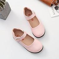 お買い得  フラワーガールシューズ-女の子 靴 レザー 春 フラワーガールシューズ コンフォートシューズ フラット のために カジュアル ホワイト ブラック ピンク