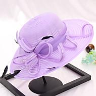 Χαμηλού Κόστους Αξεσουάρ-Γυναικεία Μονόχρωμο Χαριτωμένο Δαντέλα Φιόγκος - Καπέλο ηλίου
