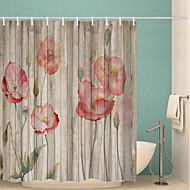 cheap Shower Curtains-Shower Curtains & Hooks Classic Polyester Novelty Machine Made Waterproof Bathroom
