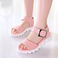 女の子 靴 レザーレット 夏 コンフォートシューズ サンダル のために カジュアル ホワイト ブルー ピンク