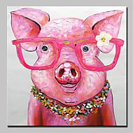 billiga Oljemålningar-Hang målad oljemålning HANDMÅLAD - Popkonst Moderna Duk
