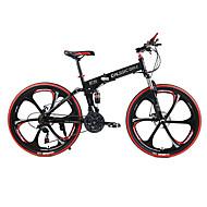 산악 자전거 / 자전거를 접는 싸이클링 (21) 속도 26인치 / 700CC SHIMANO TX30 더블 디스크 브레이크 스프링 포크 후방 서스펜션 보통의 스틸 / #
