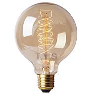 billige Glødelampe-1pc 40W E26 / E27 G125 Varm hvit 2200-2700k Kontor / Bedrift / Mulighet for demping / Dekorativ Glødende Vintage Edison lyspære 220-240V
