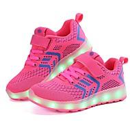tanie Obuwie dziewczęce-Dla dziewczynek Obuwie Dzianina / Tiul Wiosna Wygoda / Świecące buty Adidasy LED na Czarny / Ciemnoniebieski / Różowy