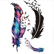 billiga Temporära tatueringar-10pcs Klistermärke tecknad serie Tatueringsklistermärken