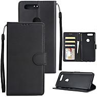billiga Mobil cases & Skärmskydd-fodral Till OnePlus OnePlus 5T 5 Korthållare Plånbok Stötsäker Lucka Fodral Enfärgad Hårt PU läder för One Plus 5 OnePlus 5T