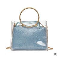 baratos Bolsas Tote-Mulheres Bolsas PVC Tote Detalhes em Cristal Azul / Dourado / Prata
