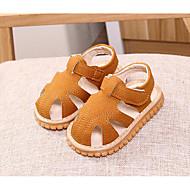 tanie Obuwie chłopięce-Dla dziewczynek Dla chłopców Buty Derma Lato Buty do nauki chodzenia Comfort Sandały na Casual Yellow Niebieski Różowy