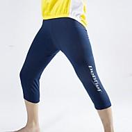 Jaggad Herre Cykling 3/4 tights Cykel Forede shorts 3D Måtte, Hurtigtørrende, Åndbart Ensfarvet Spandex Mørk Navy Cykeltøj