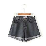 Dame Basale Jeans Bukser Ensfarvet