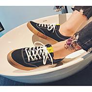 tanie Obuwie męskie-Męskie Buty Płótno Wiosna Jesień Wulkanizowane buty Comfort Tenisówki na Casual White Black
