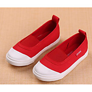 tanie Obuwie dziewczęce-Dla dziewczynek Buty Płótno Wiosna Jesień Comfort Mokasyny i pantofle na Casual White Czerwony Różowy