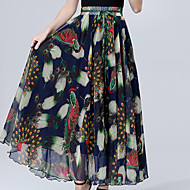 cheap Women's Skirts-Women's Boho Swing Skirts - Floral
