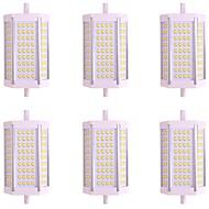 hesapli LED Tüp Işıklar-6pcs 10W 1000lm R7S Tüp Işıkları 72 LED Boncuklar SMD 2835 Sıcak Beyaz Serin Beyaz 85-265V