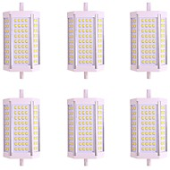 preiswerte LED-Anzeigenleuchte-6pcs 10W 1000lm R7S Röhrenlampen 72 LED-Perlen SMD 2835 Warmes Weiß Kühles Weiß 85-265V