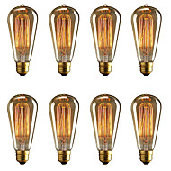 baratos Incandescente-BRELONG® 8pçs 40W E26 / E27 Amarelo 2000-2200k Decorativa Incandescente Vintage Edison Light Bulb 220-240V