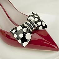 お買い得  足/靴 装飾-2本 PVC デコレーションアクセント 女性用 オールシーズン 結婚式 バケーション ホワイト ブラック