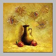 billiga Stilleben-Hang målad oljemålning HANDMÅLAD - Stilleben Klassisk Duk