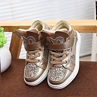 baratos Sapatos de Menina-Para Meninas Sapatos Couro Ecológico Outono & inverno Tira no Tornozelo Tênis Laço para Dourado / Rosa claro
