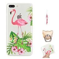 billiga Mobil cases & Skärmskydd-fodral Till Apple iPhone X / iPhone 8 Plus Mönster Skal Flamingo Mjukt TPU för iPhone X / iPhone 8 Plus / iPhone 8