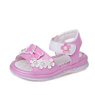 baratos Sapatos de Menina-Para Meninas Sapatos Courino Verão Conforto / Sapatos para Daminhas de Honra Sandálias Caminhada para Bebê Vermelho / Rosa claro