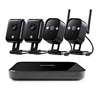 Χαμηλού Κόστους Ασύρματο Σύστημα CCTV-ασύρματο σύστημα ασφαλείας zmodo® 4ch 720p hd με 4 εξωτερικές συσκευές εγγραφής φωτογραφικών μηχανών και μίνι δικτύου