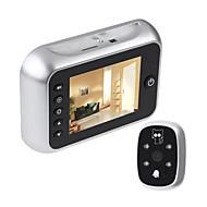 billige Tilgangskontrollsystem-Video Door Phone Systems Trådløs Fotografert / Opptak 3.5 tommers Håndfri En Til En Video Dørtelefon