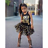 Toddler Girls' Polka Dot / Print Sleeveless Clothing Set