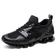 baratos Sapatos Masculinos-Homens Sapatos Confortáveis Tricô / Tecido elástico Outono Esportivo / Casual Tênis Corrida Massgem Preto / Cinzento