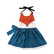 للفتيات رياضي Active بنطلون - ورد / طباعة / ألوان متناوبة بدون ظهر / محاك بربطات / بقع أزرق البحرية 100 / فوق الركبة / مناسب للخارج / طفل صغير