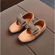 baratos Sapatos de Menina-Para Meninas Sapatos Couro Ecológico Primavera Conforto Mocassins e Slip-Ons Pedrarias / Laço para Preto / Bege / Rosa claro