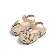 baratos Sapatos de Menina-Para Meninas Sapatos Couro Sintético Verão Conforto Sandálias Caminhada Presilha para Bébé Bege / Verde / Rosa claro