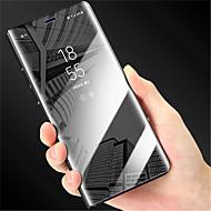 billiga Mobil cases & Skärmskydd-fodral Till Huawei P20 Pro / P20 med stativ / Plätering / Spegel Fodral Enfärgad Hårt PU läder för Huawei P20 lite / Huawei P20 Pro /