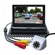 billiga Parkeringskamera för bil-ziqiao 4,3 tums tft-lcd ccd-kabel 170 graders bil baksidesats vikbar vattentät för bil