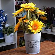billige Kunstig Blomst-Kunstige blomster 1 Afdeling Rustikt Solsikke Bordblomst