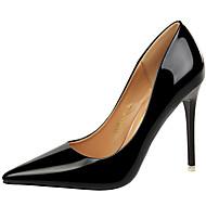 baratos Sapatos Femininos-Mulheres Sapatos Couro Envernizado Outono Plataforma Básica Saltos Salto Agulha Dourado / Preto / Prata / Festas & Noite / Festas & Noite