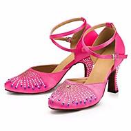 billige Moderne sko-Dame Moderne sko Silke Høye hæler Slim High Heel Dansesko Svart / Fuksia / Ytelse / Trening