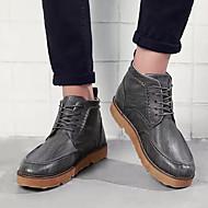 baratos Sapatos Masculinos-Homens Solas Claras Couro Ecológico Primavera / Outono Botas Preto / Cinzento Escuro / Verde Tropa
