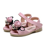 cheap Baby Shoes-Girls' Shoes Leatherette Summer First Walkers / Flower Girl Shoes Sandals Bowknot / Magic Tape for Baby Pink / Party & Evening