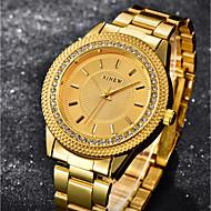 billige Quartz-Dame Armbåndsur Kinesisk Imiteret Diamant / Sej Rustfrit stål Bånd Luksus / Afslappet Guld