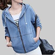 女性用 デニムジャケット - 活発的 ソリッド