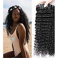 3 Bundler Peruviansk hår Krøllet Menneskehår Menneskehår, Bølget / Hårforlængelse af menneskehår Naturlig Farve Menneskehår Vævninger Bedste kvalitet / Hot Salg / Til sorte kvinder Menneskehår