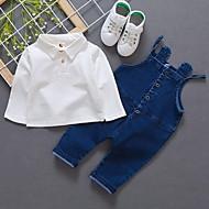 Børn Drenge Basale Ensfarvet Langærmet Tøjsæt