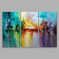 voordelige -Hang-geschilderd olieverfschilderij Handgeschilderde - Abstract Modern Others